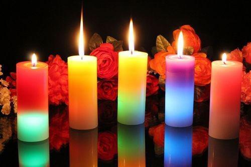 Maquina de velas bicolor